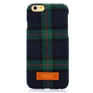 iPhone6  iPhone6S カバーDESIGNSKIN 15FW Bartype Check  (Green)