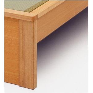 純国産 畳ベッド セミダブル 「成」 (ヘッドシェルフ×1個付き) い草たたみ 木製 【日本製】