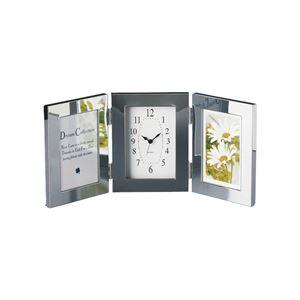 メタルトリプルフォトフレーム時計付 381