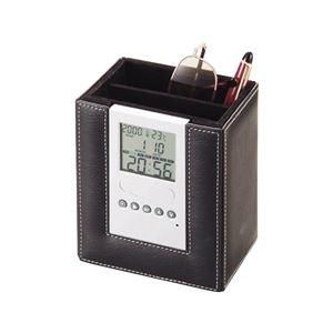 時計付 リモコンスタンド BK 16280