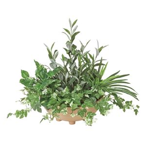 光の楽園【光触媒/人工観葉植物】48cm 寄せ植えオリーブ