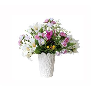 光の楽園【光触媒/アートフラワー/造花】アレンジフラワー 24cm