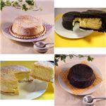 白黒チーズケーキセット 6台 (直径約12cm)