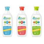【6本セット】エコベール 食器用洗剤 500ml (レモン・カモミール・グレープフルーツ) 3種×各2本