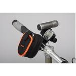 フォン&ジップケース(携帯電話ケース)&ミニバー装備ブラケットセット 【IBERA】 IB-PB2+Q2 ブラック(黒) 〔自転車パーツ/アクセサリー〕