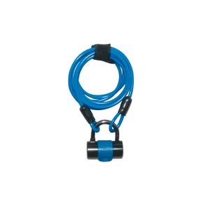 ワイヤーロック/多機能ロック 1800mmロングワイヤー 【J&C】 JC-019W ブルー(青) 〔自転車パーツ/アクセサリー〕