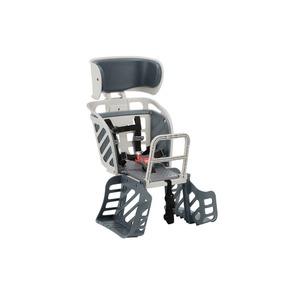 ヘッドレスト付き後ろ用子供乗せ(自転車用チャイルドシート) 【OGK】RBC-009DX3 Wグレー(灰) 〔自転車アクセサリー〕