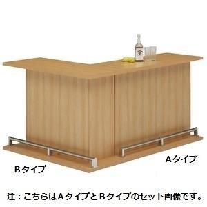 バーカウンター/カウンターテーブル 【A-type 単品】 幅120cm 日本製 ナチュラル 【CABA】キャバ 【完成品】