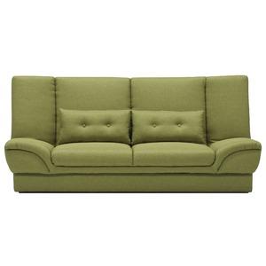 収納付きソファーベッド 【セミダブルサイズ】 ファブリック クッション2個付き グリーン(緑) 【完成品】【開梱設置】