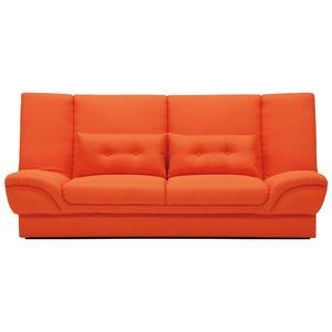 収納付きソファーベッド 【セミダブルサイズ】 ファブリック クッション2個付き オレンジ 【完成品】【開梱設置】