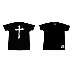 戦国武将Tシャツ 【島津義弘 十文字】 XLサイズ 半袖 綿100% ブラック(黒) 〔メンズ 大きいサイズ Uネック おもしろ〕