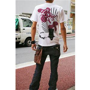 戦国武将Tシャツ 【豊臣秀吉 馬蘭後立付兜】 Lサイズ 半袖 綿100% ホワイト(白) 〔Uネック おもしろ〕