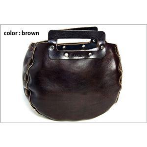 ★dean(ディーン) bowling bag ハンドバッグ 茶