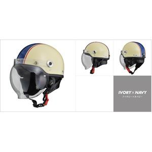 CR-760 ハーフヘルメット アイボリー×ネイビー