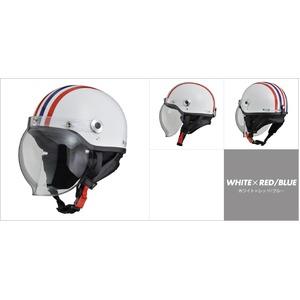 CR-760 ハーフヘルメット ホワイト×レッド/ブル―