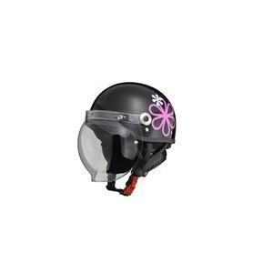 CR-760 ハーフヘルメット ブラックフラワー