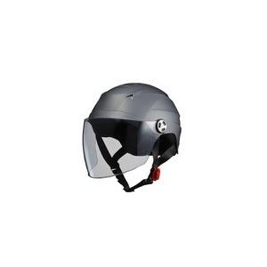 SERIO(セリオ) RE-40 シールド付きハーフヘルメット スモ―キーシルバー