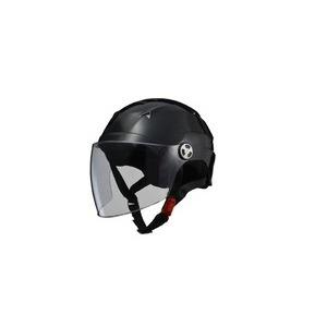 SERIO(セリオ) RE-41 LLサイズ シールド付きハーフヘルメット ブラック