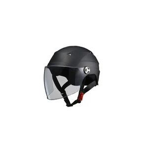 SERIO(セリオ) RE-41 LLサイズ シールド付きハーフヘルメット マットブラック