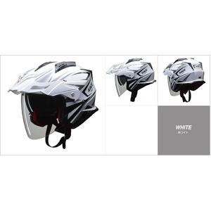 バイザーの脱着が可能!! AIACE(アイアス) アドベンチャーヘルメット Lサイズ ホワイト