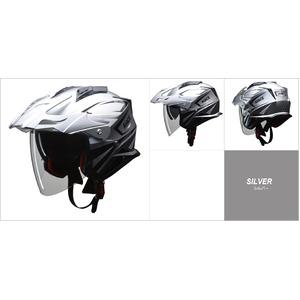 バイザーの脱着が可能!! AIACE(アイアス) アドベンチャーヘルメット Lサイズ シルバー