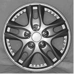 5スポーク ホイールカバー WJ-5001 シルバー 12インチ【4枚セット】