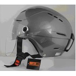サングラスタイプ インナーシールド装備 開閉式シールド付きハーフヘルメット ガンメタリック