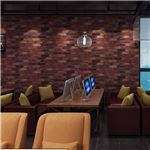 【WAGIC】(6m巻)リメイクシート シール壁紙 プレミアムウォールデコシートR-WA114 赤茶系 レンガ 倉庫街風