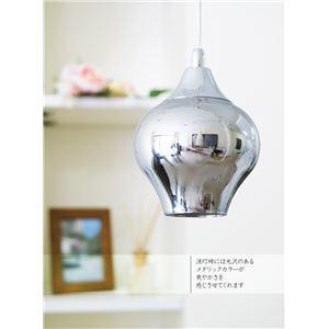 ペンダントライト(吊り下げ型照明器具) 特殊ガラス製 〔リビング照明/ダイニング照明/寝室照明〕【電球別売】