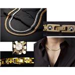 PV 天然ダイヤモンド磁気ネックレス ゴールド Lサイズ