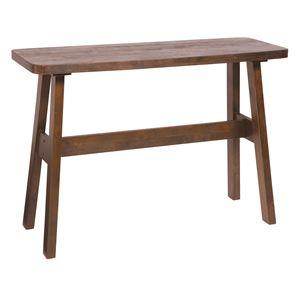 カウンターテーブル/ハイテーブル 【長方形 幅120cm】 ダークブラウン 『ベルク』 木製 高さ85cm ブラッシング加工