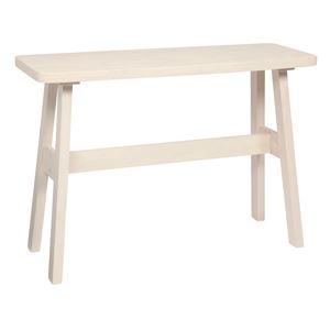 カウンターテーブル/ハイテーブル 【長方形 幅120cm】 ホワイト 『ベルク』 木製 高さ85cm ブラッシング加工