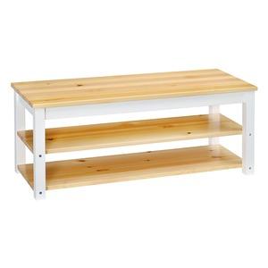 シンプル テレビ台/テレビボード 【ナチュラル】 26型〜42型対応 幅100cm 木製 棚板2枚 脚付き 〔リビング ダイニング〕