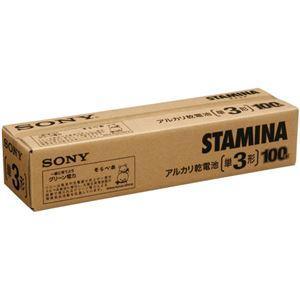 (まとめ)ソニー アルカリ乾電池 STAMINA単3形 業務用パック LR6SG100XD 1箱(100本)【×3セット】