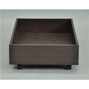 ベッド下収納BOX ブラウン