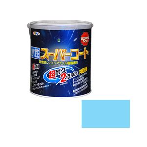 アサヒペン AP 水性スーパーコート 1.6L 水色