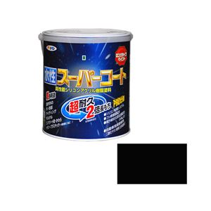 アサヒペン AP 水性スーパーコート 1.6L 黒