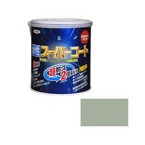 アサヒペン AP 水性スーパーコート 1.6L ソフトグレー