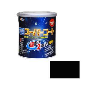 アサヒペン AP 水性スーパーコート 1.6L ツヤ消し黒