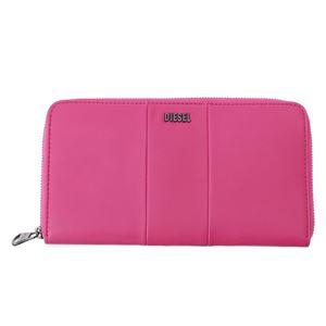 DIESEL (ディーゼル ) X02439 PR472 T4236 ラウンドファスナー長財布 ピンク