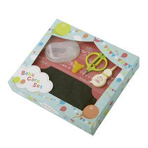 【出産祝い】 ベビーケア 4点セット/ツメきりハサミ・ピンセット・鼻吸い器・ポーチ 『貝印』 〔ベビー用品 新生児用〕