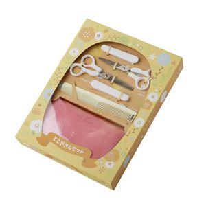 【出産祝い】 とこやさんギフトセット/カットはさみ・すきばさみ・コーム・ケープ 『貝印』