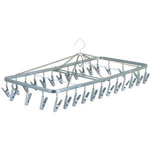 ピンチハンガー(角ハンガー/洗濯物干し) 30ピンチ 幅76cm スチール製