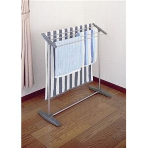 セキスイ バスタオル掛け(タオルハンガー/物干しスタンド) 幅84cm ステンレス製 干し部:斜め形状