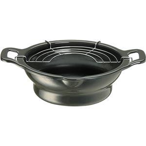 ホーロー製天ぷら鍋/揚げ物鍋 【22cm】 段付き IH対応 日本製