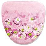 洗える フタカバー/便座カバー 【洗浄・暖房専用 ピンク】 吸着タイプ アクリル100% 『デイジーマルシェ』