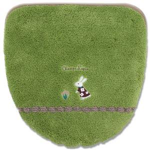 オカ シャンラパン洗浄暖房専用便座カバー 吸着タイプ グリーン (洗浄暖房専用便座カバー 吸着タイプ)