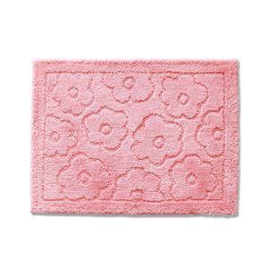 バスマット/フロアマット 【約50×70cm ピンク】 吸水 抗菌 防臭 裏面滑り止め加工 『乾度良好 サニー』