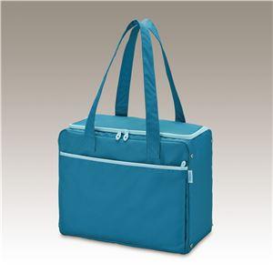 【THERMOS サーモス】 保冷 ショッピングバッグ/エコバッグ 【ブルー】 22L 折りたたみ ダブルスライドファスナー