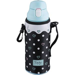 2WAY 携帯マグボトル/水筒 【0.8L】 ドット 直飲み ロック機能・コップ付き 『フォルテック・パーク』